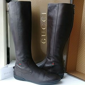 Stunning GUCCI Leather Boots - Like New!